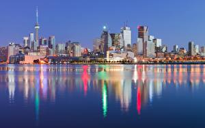 Картинки Канада Торонто Берег Дома Города