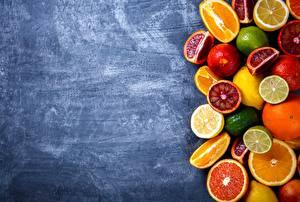 Фото Цитрусовые Апельсин Лимоны Грейпфрут