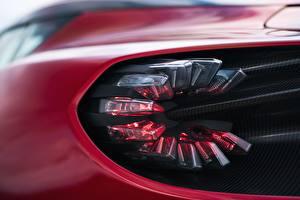 Фотографии Вблизи Макросъёмка Aston Martin Фары Zagato V12 Twin-Turbo DBS GT 2020 Автомобили