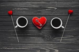 Фотография Кофе День всех влюблённых Креатив Сердца Замковый ключ Доски