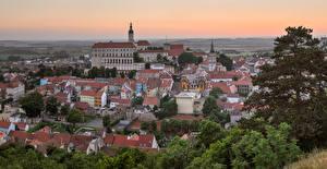 Картинка Чехия Здания Крыша Mikulov город
