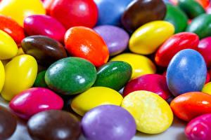 Фото Пасха Драже Вблизи Разноцветные Пища