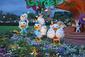 Фотографии Пасха Япония Токио Парк Дизайна Яйцо Disney Resort Природа