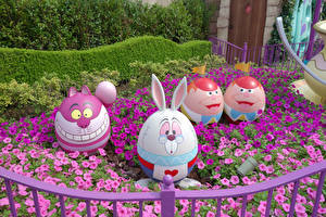 Фото Пасха Япония Токио Парк Петуния Оригинальные Дизайна Яйцо Disney Resort Природа