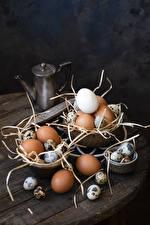 Фотографии Яйца Соломе Еда