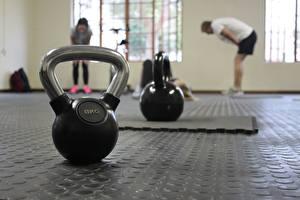 Фотография Фитнес Спортзале Боке Гантеля Спортивные 8 kg Спорт