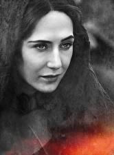 Картинка Игра престолов (телесериал) Лицо Melisandre Фильмы Девушки