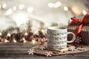 Фотография Горячий шоколад Рождество Кружки Снежинка Пища