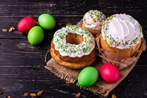 Обои для рабочего стола Кулич Пасха Сахарная глазурь Яйцами Продукты питания