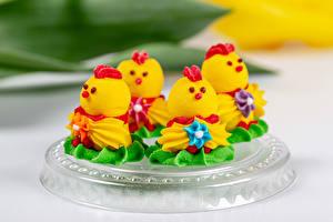 Картинки Пирожное Птенец курицы Дизайна Пища