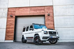 Фото Mercedes-Benz G-класс Тюнинг Белая Lumma Design, CLR G770 автомобиль