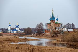 Фото Россия Весна Храмы Церковь Монастырь Речка Kirill Sokolov, Dunilovo Природа