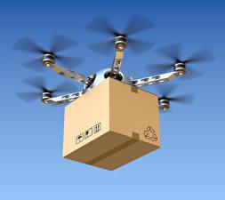 Картинки Беспилотный летательный аппарат Полет Коробка hexacopter