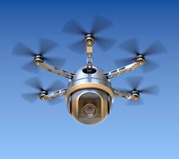 Фотографии БПЛА Летит Видеокамерой hexacopter 3D_Графика