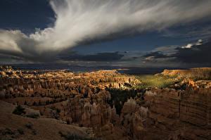 Картинки Штаты Парки Гора Рассветы и закаты Bryce Canyon National Park in Utah Природа