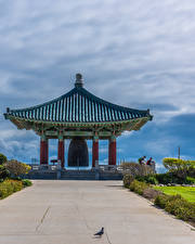 Картинки Америка Храмы Пагоды Калифорнии Korean Friendship Bell in San Pedro