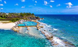 Фотографии Великобритания Берег Море Тропический Плавательный бассейн Bermuda Природа