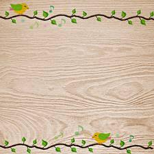 Обои для рабочего стола Векторная графика Доски Ветки Шаблон поздравительной открытки