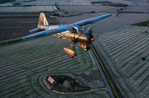 Фото Самолеты Летящий Westland Lysander Mk.IIITT Авиация