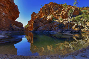 Фотографии Австралия Озеро Скала Каньон Northern Territory