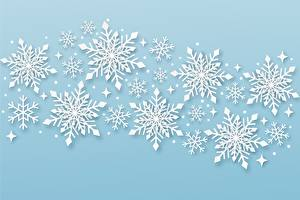 Фото Новый год Снежинки Природа