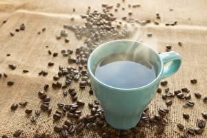 Фото Кофе Зерно Кружки Паром Пища