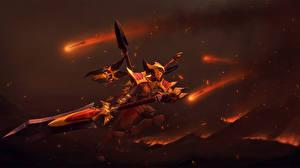 Картинки DOTA 2 Легион командер Воин Броне Шлем Меча Игры