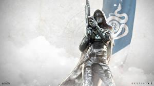Картинки Destiny 2 Воители Капюшон В шлеме Доспехи Игры