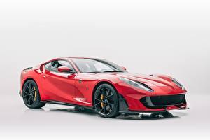 Обои Ferrari Тюнинг Красная Металлик Серый фон Mansory, 812, Superfast Автомобили