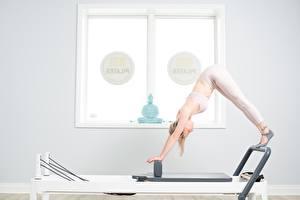 Фотографии Фитнес Поза pilates спортивный Девушки