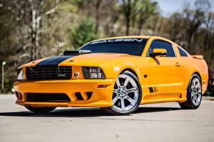 Фотография Форд Желтых Металлик Mustang, S302, Saleen, Extreme, 2008 Автомобили