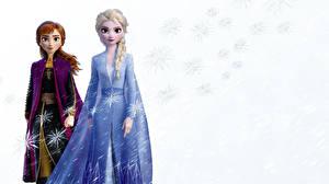 Картинка Холодное сердце Дисней Коса Anna, Elsa мультик 3D_Графика Девушки