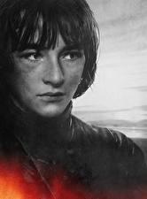Картинка Игра престолов (телесериал) Крупным планом Парень Лица Bran Stark, Isaac Hempstead Wright Знаменитости