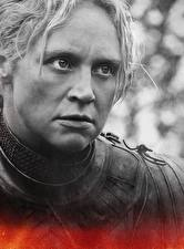 Картинки Игра престолов (телесериал) Вблизи Лица Brienne of Tarth Девушки