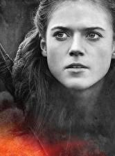 Обои Игра престолов (телесериал) Крупным планом Лица Ygritte, Rose Leslie Фильмы Девушки