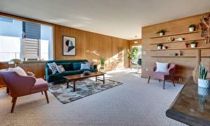 Обои Интерьер Комната Гостиная Кресло Подушка Диван Дизайна
