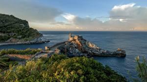 Фото Италия Лигурия Побережье Море Утро Portovenere