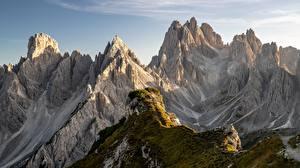Картинки Италия Гора Альп Dolomite Alps Природа