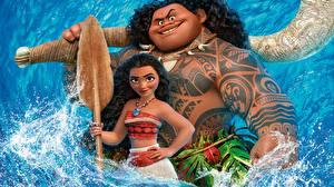 Обои Моана Татуировки Maui Мультики Девушки