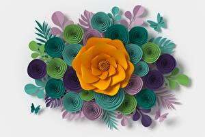Картинка Разноцветные 3D Графика Цветы