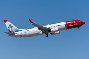 Картинки Самолеты Пассажирские Самолеты Boeing Norwegian Air International, 737-800W