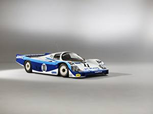 Фотографии Porsche Серый фон 956 C Coupe, 24 Hours of Le Mans, 1983