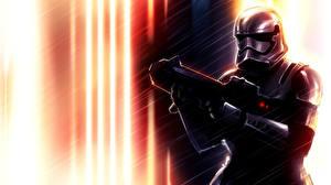 Обои Star Wars Клоны солдаты Воители Солдат Шлем Броне компьютерная игра Фэнтези