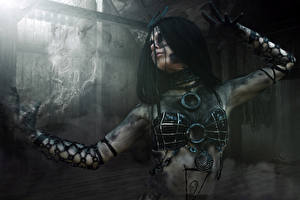 Обои Отряд самоубийц 2016 Магия Рука Enchantress (Dzhun Mun) Девушки
