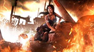 Обои Tomb Raider Tomb Raider 2013 Лара Крофт Девушки