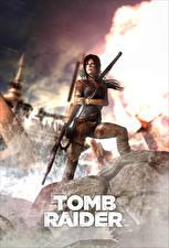 Обои для рабочего стола Tomb Raider Tomb Raider 2013 Лара Крофт Игры Девушки