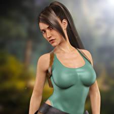Обои Tomb Raider Tomb Raider Anniversary Лара Крофт Игры 3D_Графика Девушки