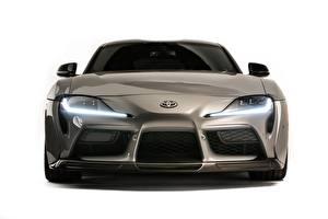 Картинка Тойота Спереди Серая Металлик GR Supra, A90, 2019, Rutledge Wood, HyperBoost авто