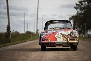 Фотография Стайлинг Старинные Порше Спереди 1964 356 Автомобили