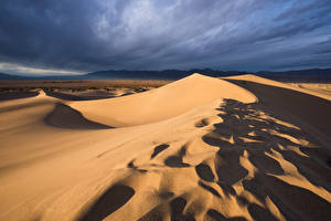 Фото США Калифорния Песка Долина Death Valley Природа